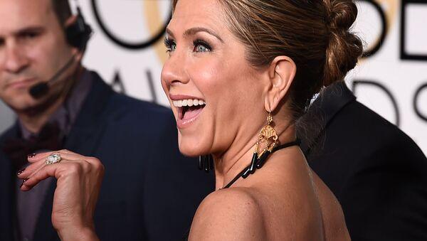 Jennifer Aniston arrives at the 72nd annual Golden Globe Awards at the Beverly Hilton Hotel on Sunday, Jan. 11, 2015, in Beverly Hills, Calif.  - Sputnik International