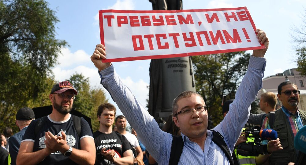 Some 750 people took part on Saturday in an unauthorised rally in Moscow