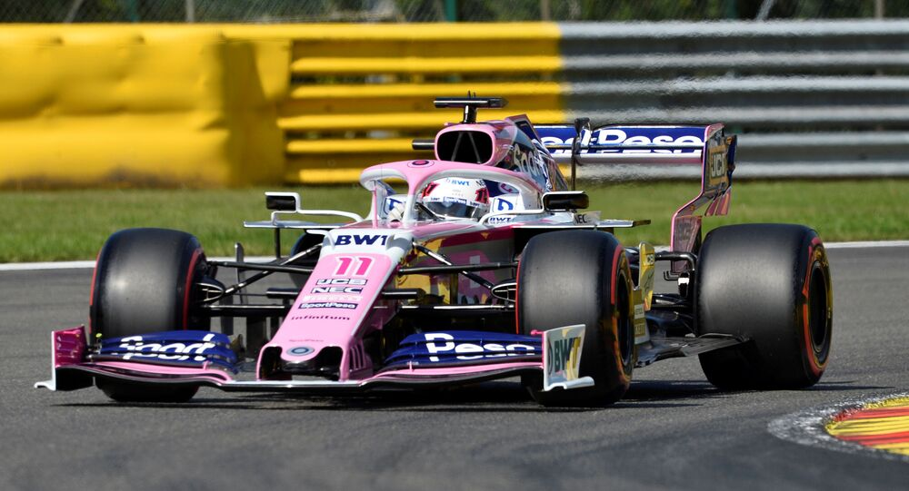 Racing car during Belgian Grand Prix on 31 August 2019