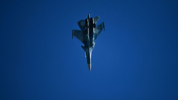A Sukhoi Su-30SM fighter performs at the MAKS-2019 International Aviation and Space Show in Zhukovsky, outside Moscow, Russia. - Sputnik International