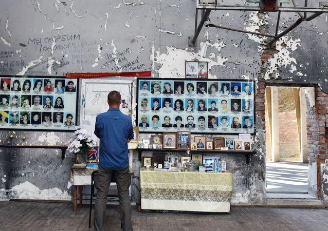 Memorial to the victims of the school massacre in Beslan