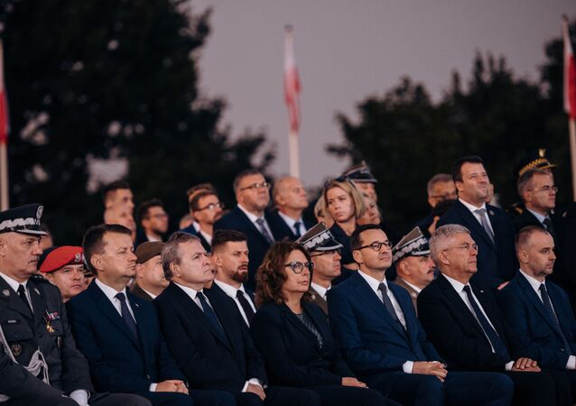 Officials attend a commemorative ceremony to mark the 80th anniversary of the outbreak of World War Two at Westerplatte Memorial in Gdansk, Poland September 1, 2019.