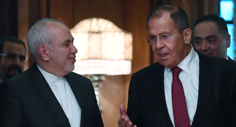 Russian Foreign Minister Sergei Lavrov (right) and Foreign Minister of the Islamic Republic of Iran Muhammad Javad Zarif during a meeting in Moscow