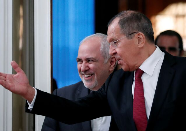 Russia's Foreign Minister Sergei Lavrov welcomes his Iran's counterpart Javad Zarif in Moscow, Russia, September 2, 2019
