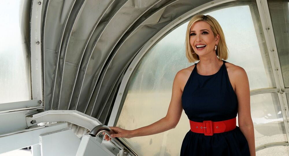 Ivanka Trump departs Joint Base Andrews in Maryland on her way to South America