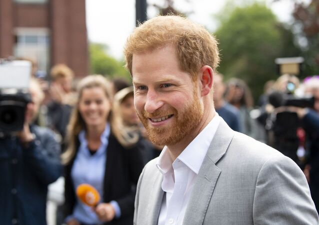 Prince Harry arrives at the ADAM Tower, in Amsterdam, on September 3, 2019, for the introduction of a project and global partnership between Booking.com, SkyScanner, CTrip, TripAdvisor and Visa, an initiative led by the Duke of Sussex to change the travel industry to better protect tourist destinations and communities that depend on it