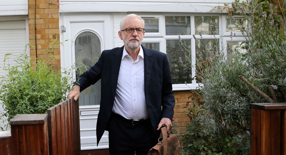 Britain's opposition Labour Party leader Jeremy Corbyn leaves his home in London, Britain September 3, 2019