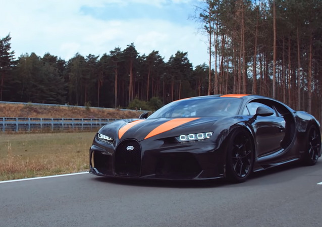 Bugatti Chiron that broke the 300 mph wall and holds the top record for speed