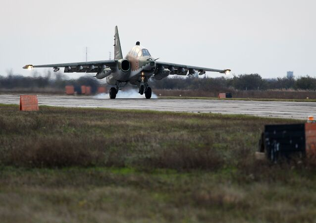 Sukhoi Su-25UB ground-attack aircraft
