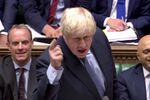 Britain's Prime Minister Boris Johnson gestures as he speaks during the weekly question time debate in Parliament in London, Britain, September 4, 2019