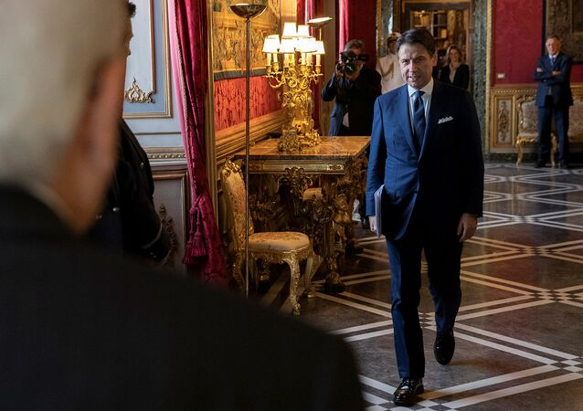 Italian Prime Minister Giuseppe Conte attends a meeting with President Sergio Mattarella at the Quirinal Palace in Rome, Italy, September 4, 2019
