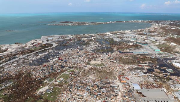 The destruction caused by Hurricane Dorian is seen from the air, in Marsh Harbor, Abaco Island, Bahamas, Wednesday, Sept. 4, 2019. The death toll from Hurricane Dorian has climbed to 20.  - Sputnik International
