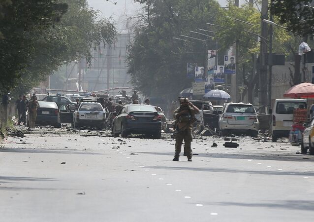 Damaged cars are seen at the site of a suicide attack in Kabul, Afghanistan September 5, 2019