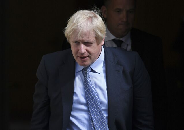 Britain's Prime Minister Boris Johnson leaves 10 Downing Street, London, for the House of Commons to attend the weekly Prime Minister's question time, Wednesday, 4 September 2019