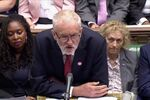 Britain's opposition Labour Party leader Jeremy Corbyn speaks during the weekly question time debate in Parliament in London, Britain, September 4, 2019, in this screen grab taken from video.