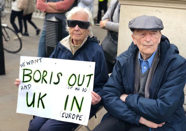 Protests in London against PM Boris Johnson