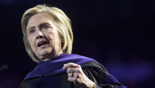 In this Wednesday, May 29, 2019 file photo, former Secretary of State Hillary Clinton delivers Hunter College's commencement address in New York. - Sputnik International
