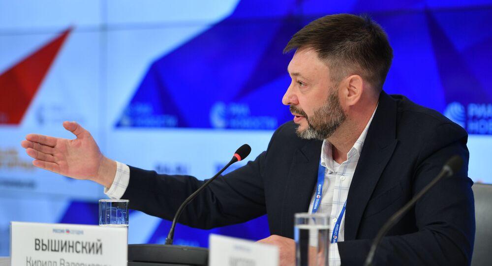 Press conference of K. Vyshinsky