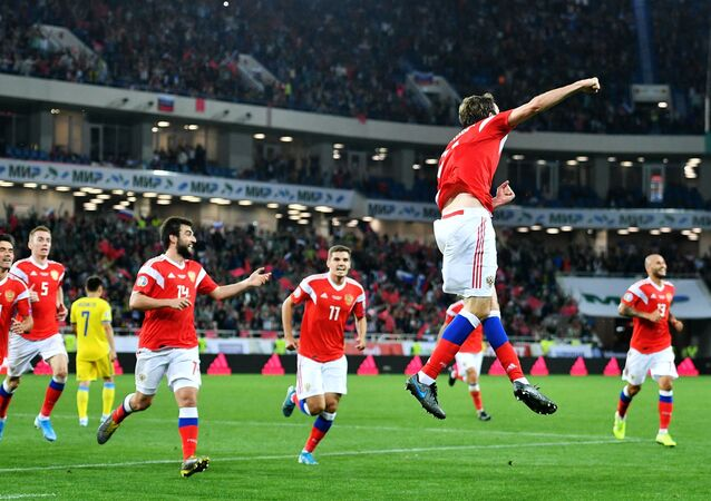 The Russian national football team won a UEFA Euro 2020 qualifying match against Kazakhstan on Monday with the final score of 1-0
