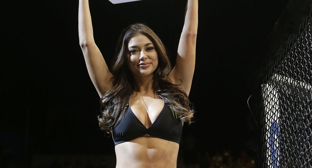 UFC Octagon Girl Arianny Celeste during a UFC Fight Night mixed martial arts fight in Sacramento