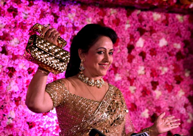 Indian Bollywood actress and politician Hema Malini attends the Lux Golden Rose Awards ceremony in Mumbai on November 18, 2018