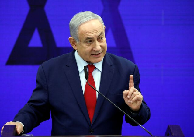Israeli Prime Minister Benjamin Netanyahu delivers a statement in Ramat Gan, near Tel Aviv, Israel September 10, 2019.