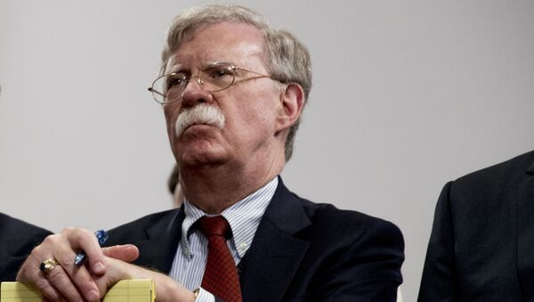 National Security Adviser John Bolton attends a meeting with President Donald Trump as he meets with Indian Prime Minister Narendra Modi at the G-7 summit in Biarritz, France, Monday, Aug. 26, 2019.  - Sputnik International