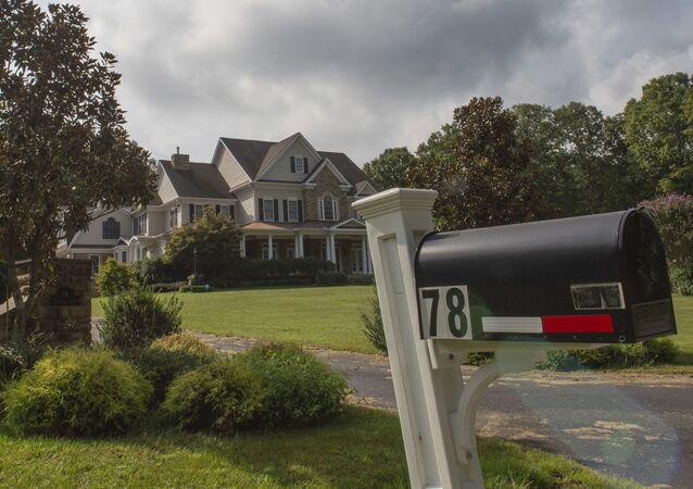 Photo shot September 10, 2019 shows the house in Stafford, Virginia, of alleged spy, Oleg Smolenkov