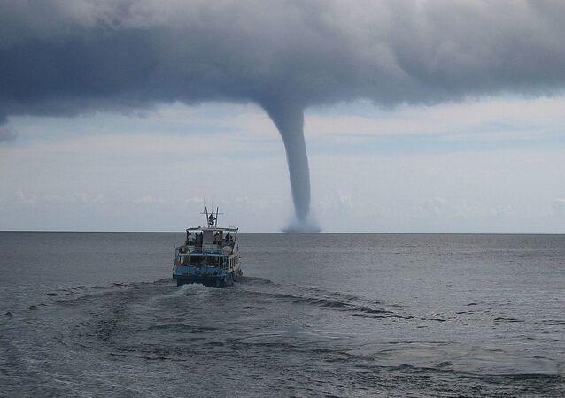 Tornado near Cala Ratjada (Mallorca)