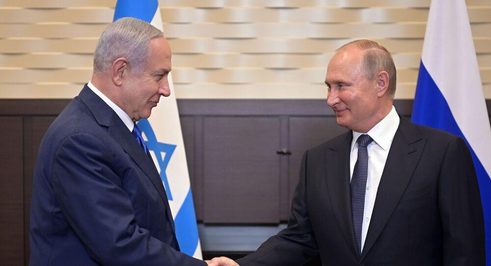 Russian President Vladimir Putin meets Israeli Prime Minister Benjamin Netnyahu in Sochi on 12 September 2019