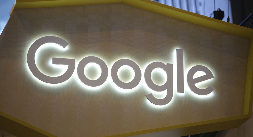 The Google logo is seen at the Vivatech, a gadgets show in Paris, France, Friday, June 16, 2017