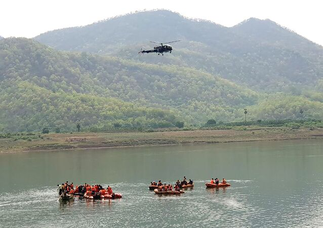 Rescue operation at Godavari river in India