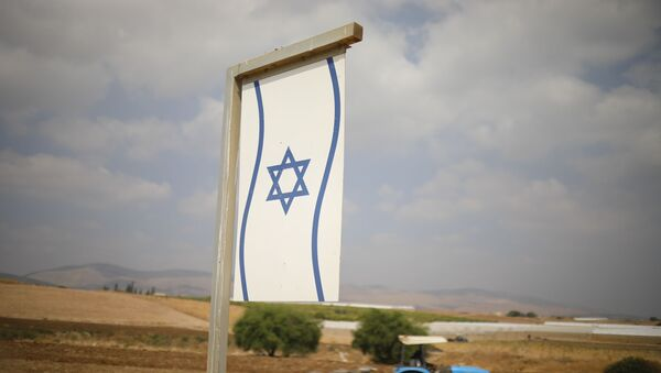 A Palestinian man works on a farm near Bardala, in the Israeli-occupied West Bank, Wednesday, Sept. 11, 2019. Israeli Prime Minister Benjamin Netanyahu's election eve vow to annex the Jordan Valley if he is re-elected has sparked an angry Arab rebuke and injected the Palestinians into a campaign that had almost entirely ignored them. (AP Photo/Ariel Schalit) - Sputnik International