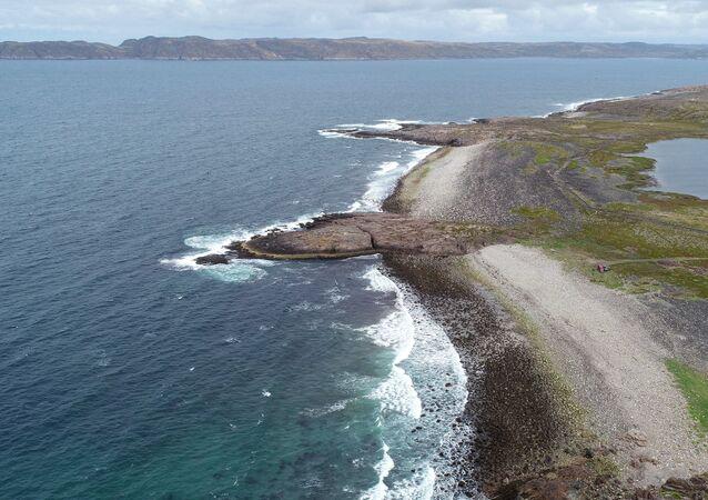 The Barents Sea near the Lodeinoye village in Murmansk region
