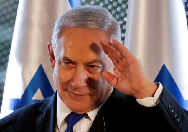 Israeli Prime Minister Benjamin Netanyahu gestures as he speaks during a state memorial ceremony at the Tomb of the Patriarchs, a shrine holy to Jews and Muslims, in Hebron in the Israeli-occupied West Bank September 4, 2019
