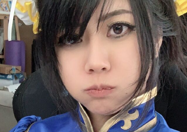 I just got banned again for wearing a Chun Li cosplay. I am fully covered. I don't understand @TwitchSupport  @twitch  how is this sexually suggestive content?