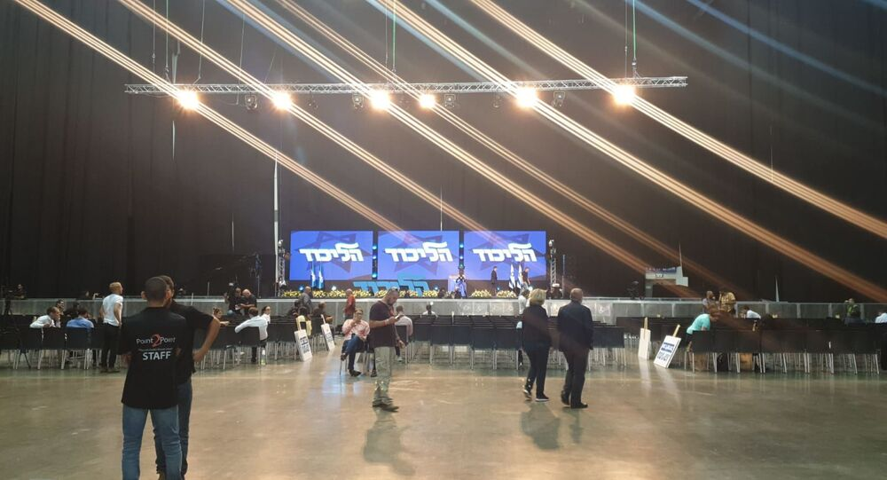 Likud HQ ahead of announcement of parliamentary election results
