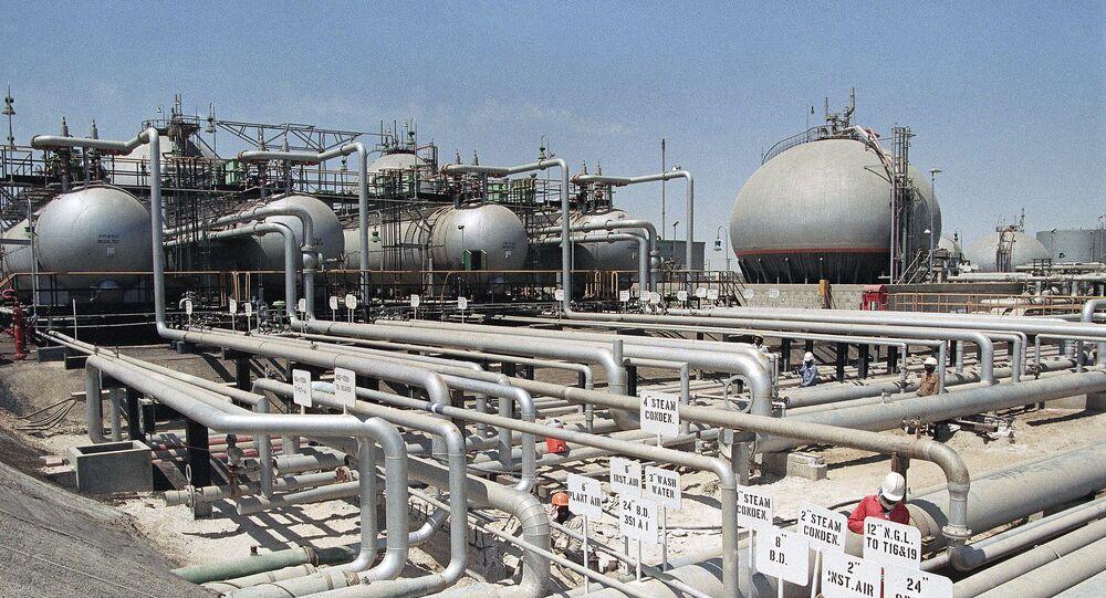 Aramco refinery at Ras Tannura, Saudi Arabia in 1990