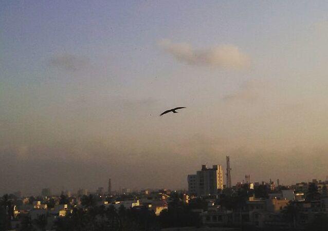 A view of sky in Karachi, Pakistan