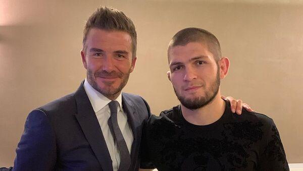 David Beckham and Khabib Nurmagomedov  - Sputnik International