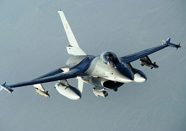 Belgian military F-16 Fighting Falcon