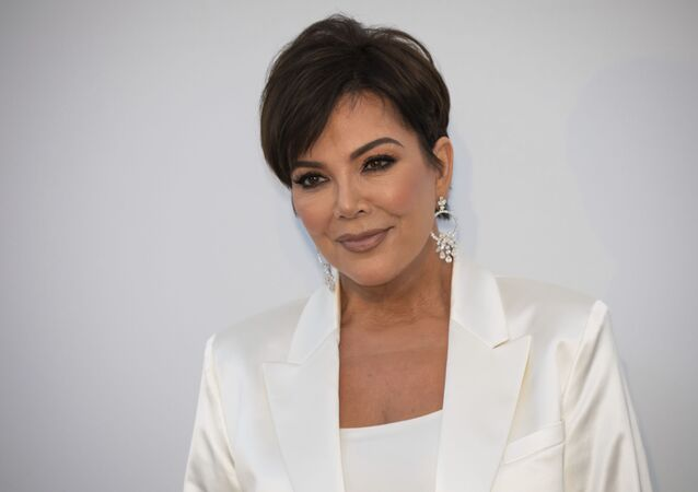 Kris Jenner poses for photographers on arrival at the amfAR, Cinema Against AIDS, benefit at the Hotel du Cap-Eden-Roc, during the 72nd international Cannes film festival, in Cap d'Antibes, southern France, Thursday, 23 May 2019.
