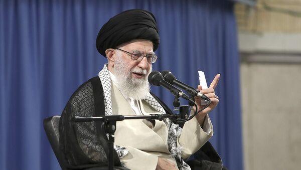 Supreme Leader Ayatollah Ali Khamenei speaks in a meeting with judiciary officials in Tehran, Iran - Sputnik International