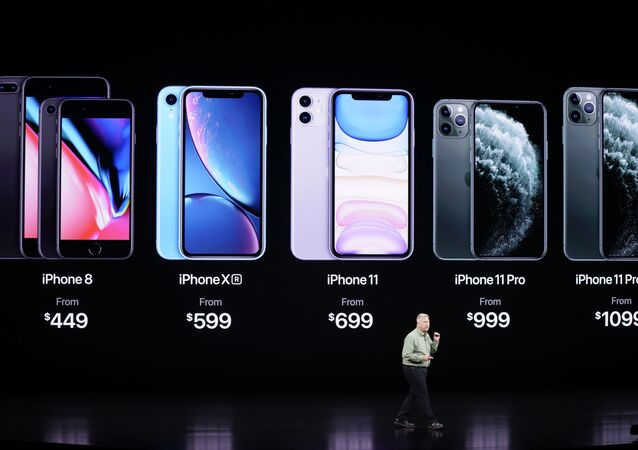 Phil Schiller, Senior Vice President of Worldwide Marketing, talks about the new iPhone 11 Pro and Max, during an event to announce new products Tuesday, Sept. 10, 2019, in Cupertino, Calif