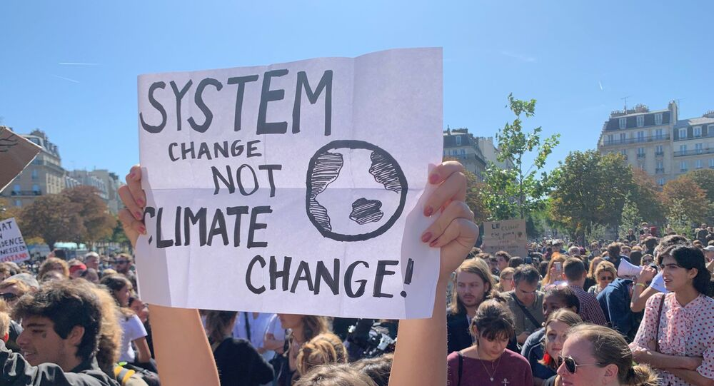 Demonstration of climate change activists in Paris