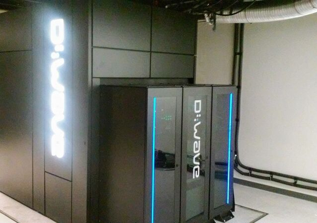 Quantum D-wave computer inside of the Pleiades supercomputer at NASA