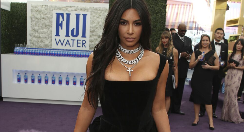 Kim Kardashian arrives at the 71st Primetime Emmy Awards on Sunday, Sept. 22, 2019, at the Microsoft Theater in Los Angeles