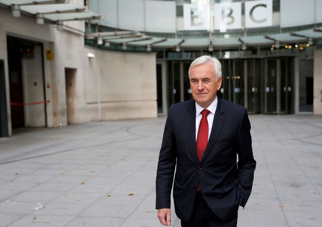 British Labour MP John McDonnell leaves the BBC studios in London, Britain September 8, 2019