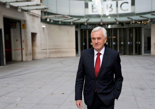 British Labour MP John McDonnell leaves the BBC studios in London, Britain September 8, 2019