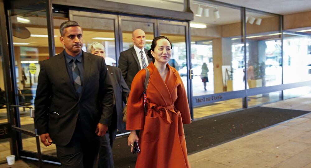 Huawei Technologies Chief Financial Officer Meng Wanzhou leaves for a lunch break during a hearing at British Columbia supreme court, in Vancouver, British Columbia, Canada September 23, 2019